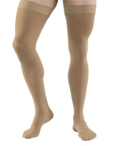 Jobst Relief 30-40 mmHg Closed Toe Thigh High Compression Stockings with Silicone Dot Band
