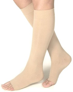 Jobst Opaque SoftFit 15-20 mmHg Open Toe Knee High Compression Stockings