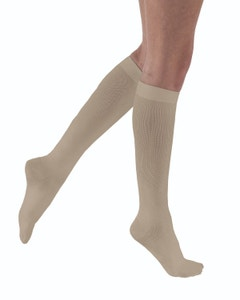 Activa Soft Fit Ribbed 20-30 mmHg Knee High Dress Compression Socks for Women